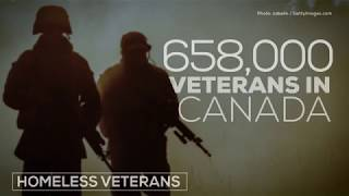 How many Canadian veterans are homeless?