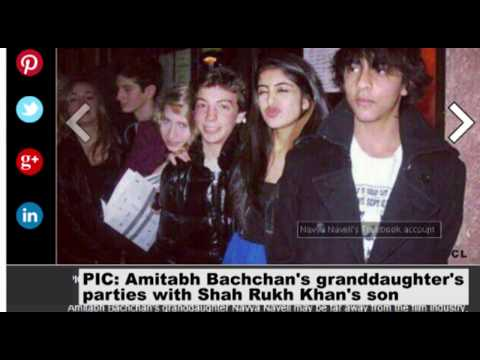Amitabh Bachchan's granddaughter's parties with Shah Rukh Khan's son - TOI