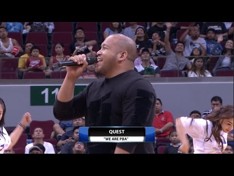 Quest performs PBA's new theme song | PBA  Commissioner's Cup 2017