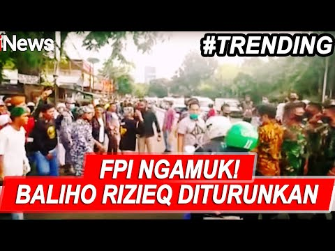 FPI Protes Keras Penurunan Baliho Rizieq Shihab - iNews Sore 20/11
