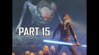 STAR WARS JEDI FALLEN ORDER Walkthrough Part 15 - Boss Gorgara