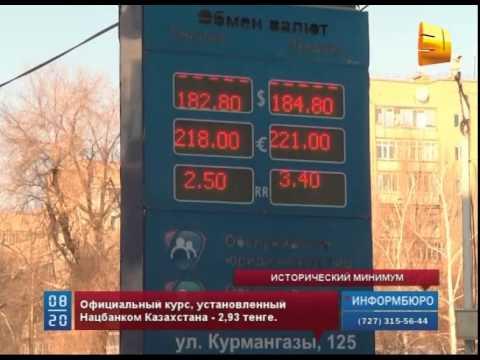 Российский рубль впервые опустился ниже трех тенге