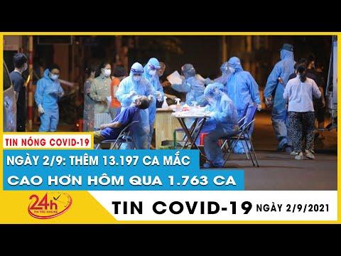 Cập nhật ngày 2/9 cả nước ghi nhận 13.197 ca mắc COVID-19, 10.602 bệnh nhân khỏi, 271 ca tử vong
