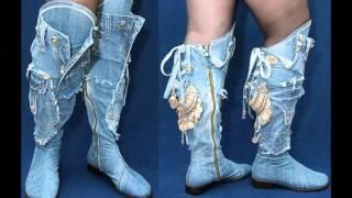 Восхитительные женские джинсовые сапоги