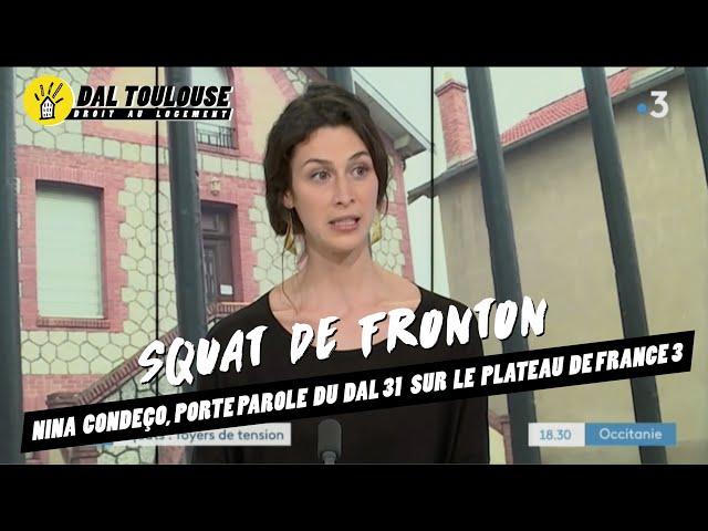 #SquatFronton - Nina Condeço, porte parole du DAL31 sur le plateau de France 3