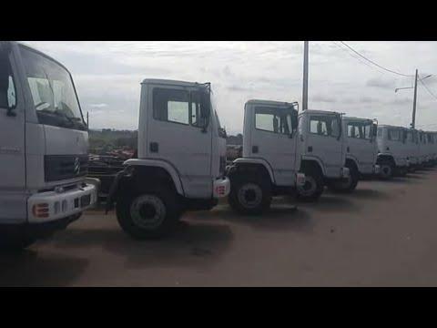 200 caminhões 0 KM Mercedes Axor 2729 pra leilão no Palácio