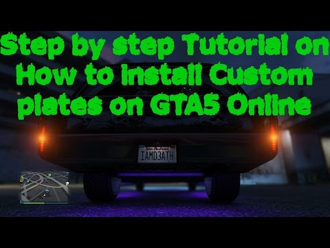 How to customize your license plates in GTA5 Online step by step tutorial