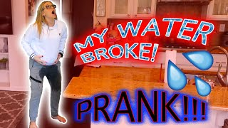 MY WATER BROKE PRANK ON BOYFRIEND!!!(HE REALLY DROVE TO THE HOSPITAL) 🏥