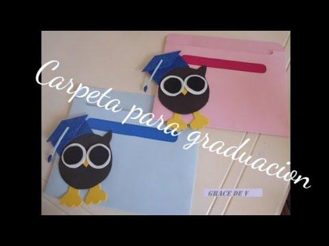 Folders de fomi para graduación - Imagui