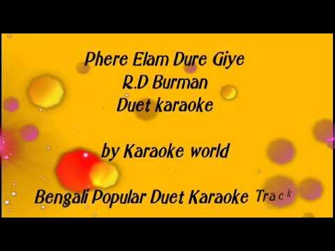 Phire Elam Dure Giye Karaoke |Asha Bhosle -9126866203