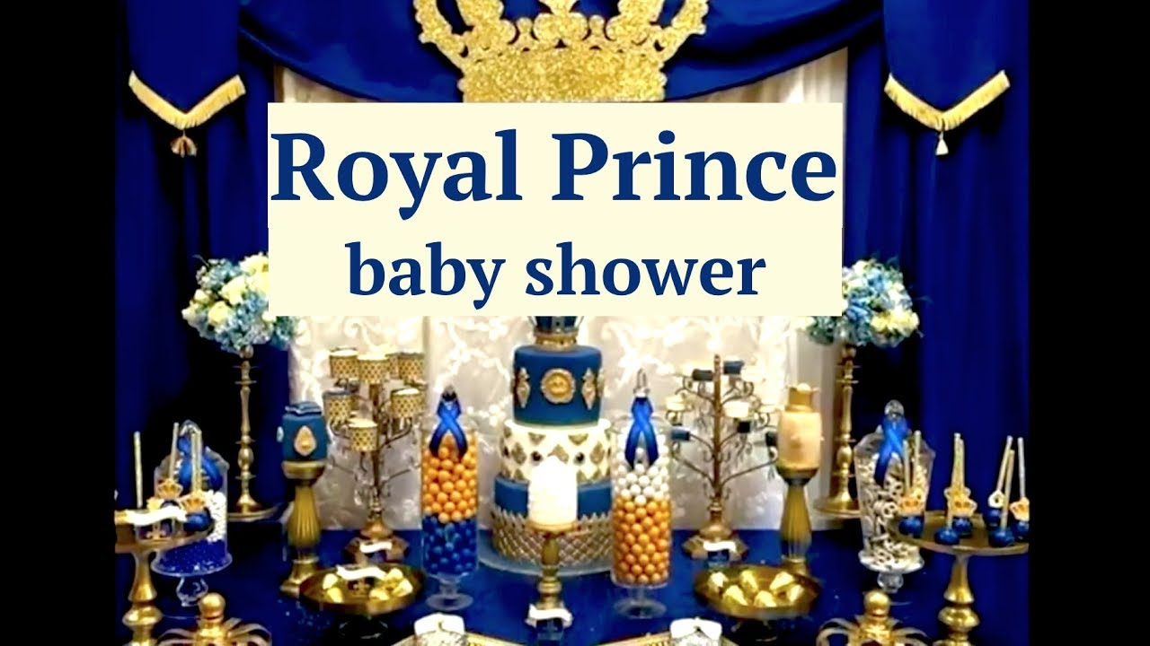 Royal Prince Baby Shower Decoration Ideas Layouts