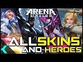 All Heroes And Skins | Arena Of Valor