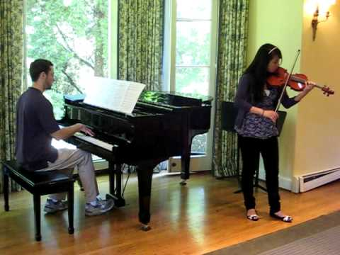 Junior violinist plays Massenet's Meditation from Thais at the Branson School in Marin