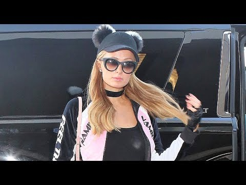 Paris Hilton Jets Off For New Year