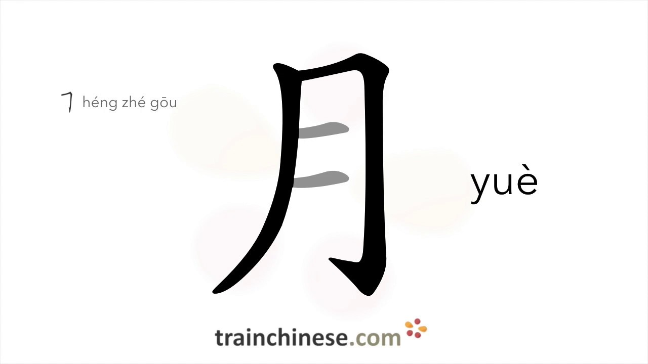 How To Write Ɯˆ Yue Moon Month Stroke Order Radical Examples And Spoken Audio Youtube