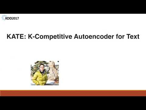 KATE: K-Competitive Autoencoder for Text
