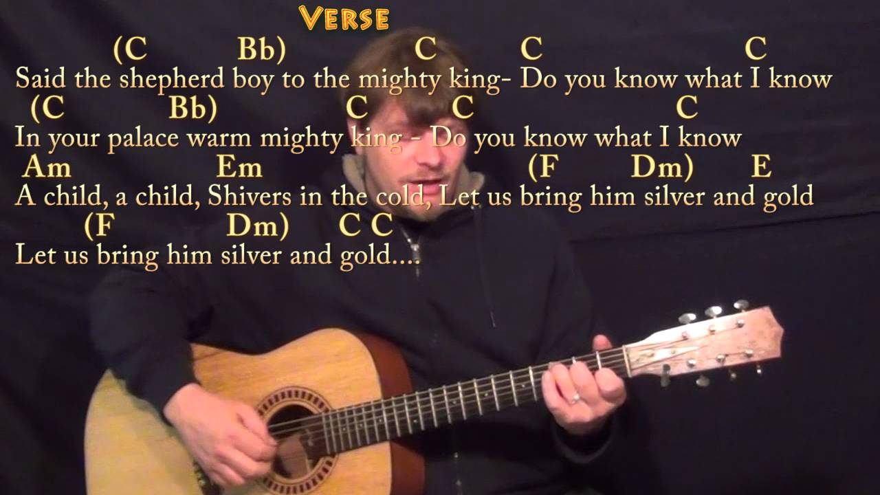 Do You Hear What I Hear (Christmas) Fingerstyle Guitar Cover Lesson in C - Chords/Lyrics - YouTube