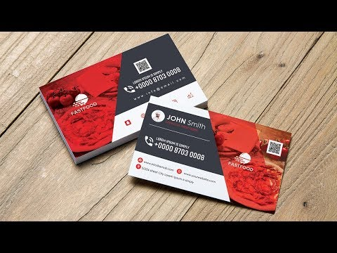 Luxury Food Business Card - Adobe Photoshop CS6-CC thumbnail