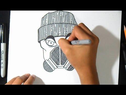 como desenhar personagem com máscara de gás wizard art by wörld
