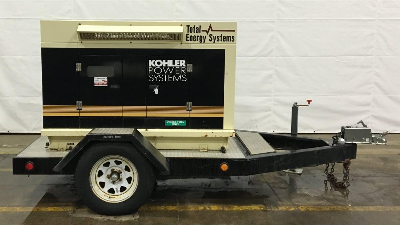 Used Kohler 20RC07N71 Rental Grade Diesel Generator, 7152 Hrs
