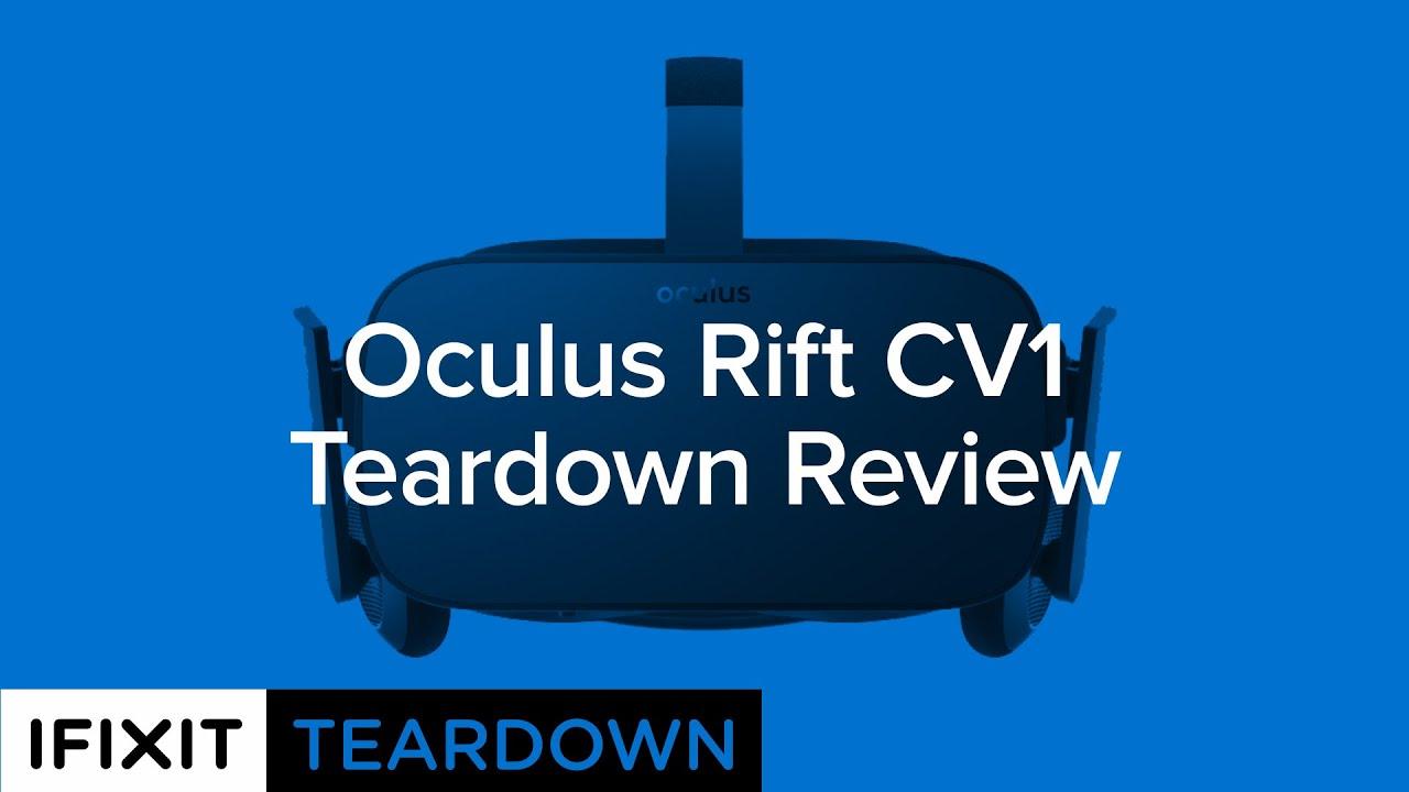 Oculus Rift CV1 Teardown - iFixit