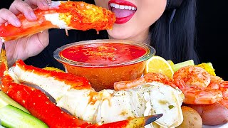 ASMR KING CRAB SEAFOOD BOIL MUKBANG (Satisfying Eating Sounds) ASMR Phan