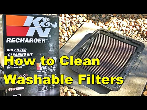 How To Clean Washable Air Filters - K&N Filter BMC Air Filter Piper Cross Air Filter ITG Air Filter