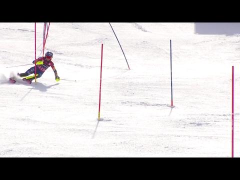 Mikaela Shiffrin - Slalom Run 1 - Squaw Valley 2017