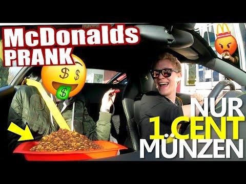 McDonalds PRANK I NUR MIT 1 CENT STÜCKEN BEZAHLEN I McDonalds Roulette