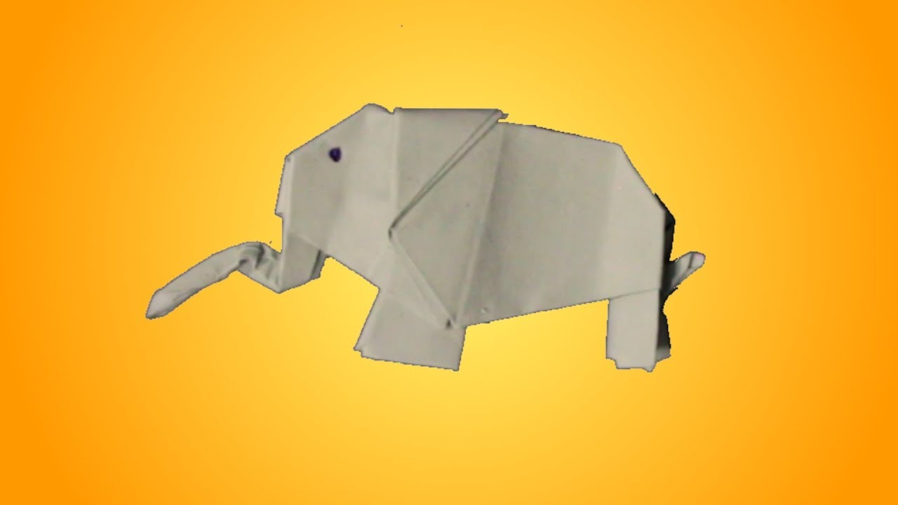 Super ELEFANT falten aus Papier 🐘 EINFACHER Origami Elefant - Tutorial RV92