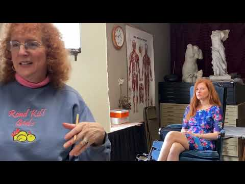 Community College of Baltimore County video of Jen's watercolor portrait demonstration