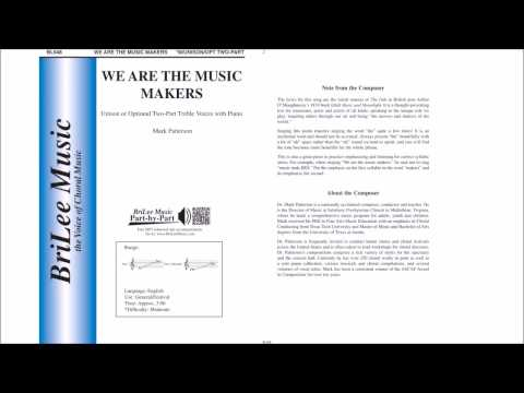 We Are the Music Makers (BL948) by Mark Patterson