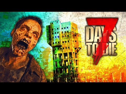 ZOMBIE TOWER STANDOFF (7 Days To Die - War of the Walkers Mod)(Ep.18)
