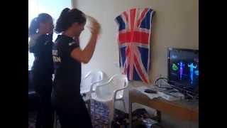 Laura Robson & Jo Konta Wii dancing