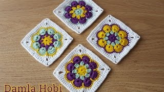 Afrika Çiçeği Motif yapılışı-Tığ işi motifler
