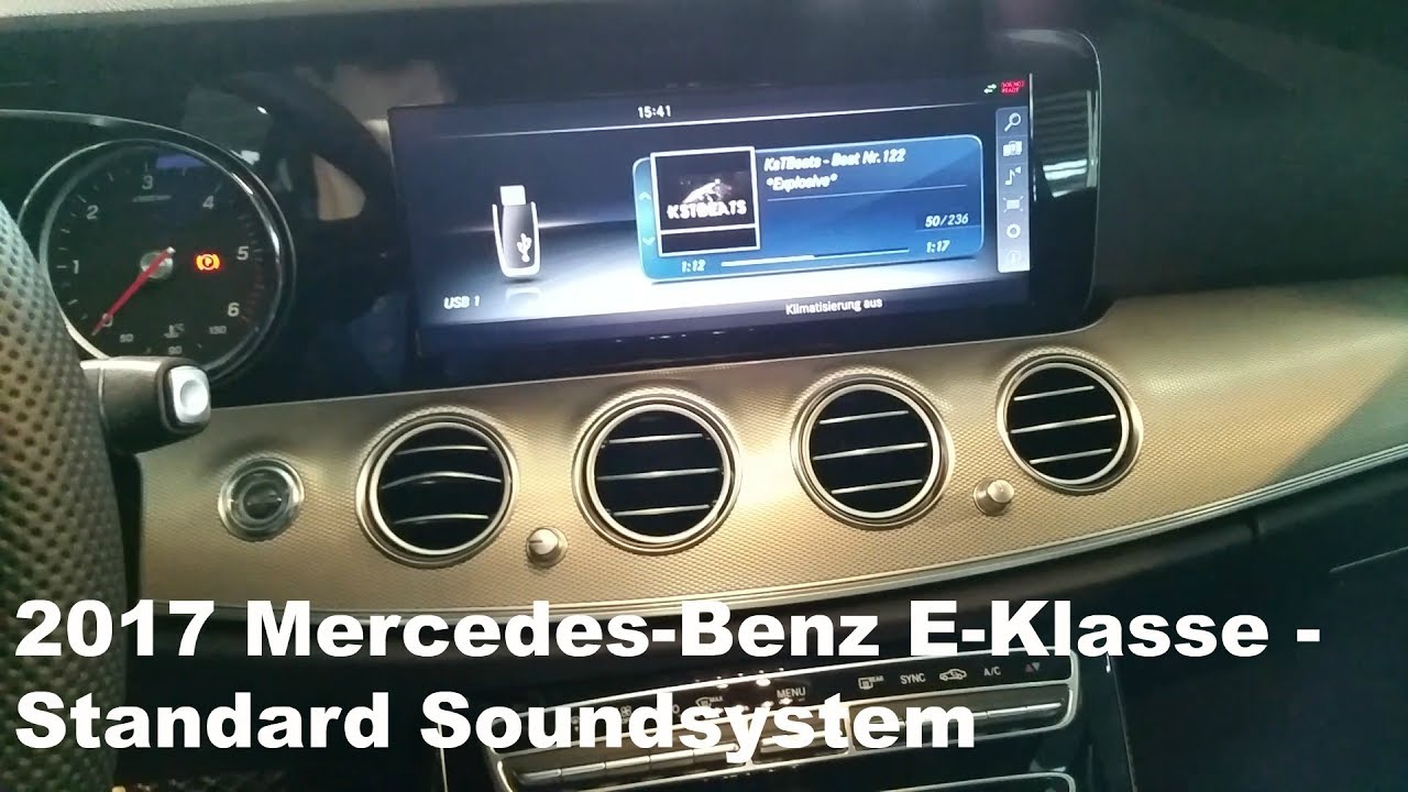 2017 mercedes benz e klasse standard soundsystem fullhd. Black Bedroom Furniture Sets. Home Design Ideas