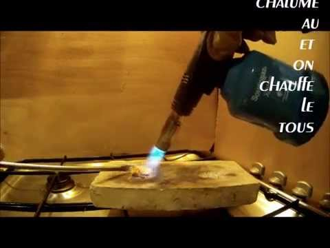 comment faire fondre de l or .. pepite ou lingot .. Gold nugget