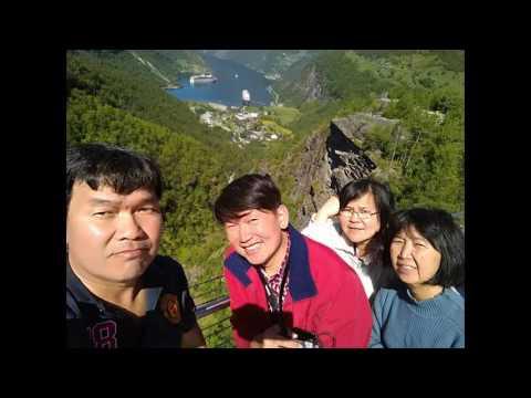 3TaoPaTiew: 14D in Norway, (D10): Ep.91 : Flydalsjuvet view point ,Geiranger