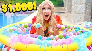 FILLING my pool with a THOUSAND Bath Bombs! - Experiment