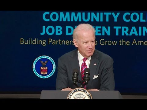 Vice President Biden Speaks at the TAACCCT Grant Announcement