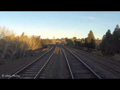 A trip up front on a V'Locity Railcar from Bendigo to Kyneton