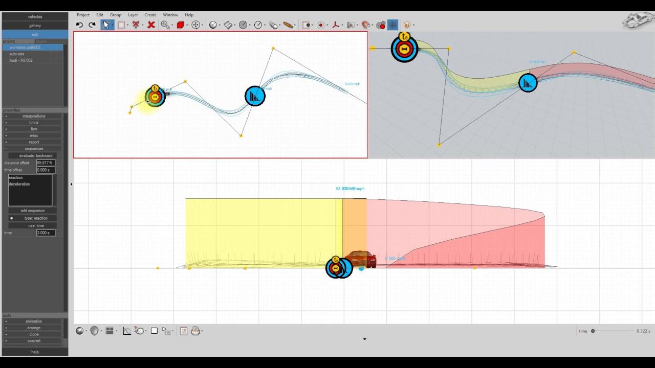hight resolution of virtual crash 4 path animation tool