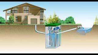 видео Система отвода очищенной воды: самотечная или принудительная?