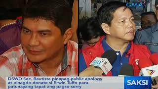 Saksi: Bautista pinapag-public apology at pinagdo-donate si Tulfo ...