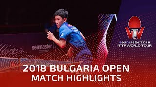 Harimoto Tomokazu vs Vladimir Samsonov | 2018 Bulgaria Open Highlights (1/4)