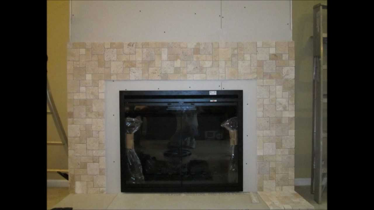 Marble Tile Fireplace Fireplace I Built With A Classic Flame Electric Fireplace