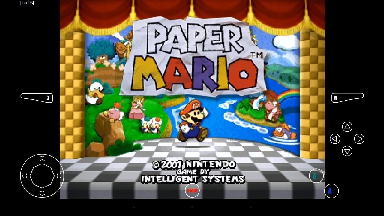 Mupen64 Plus Ae Emulator 2 4 4 For Android Paper Mario 720p Hd