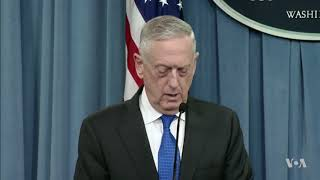 Mattis Blasts Russia's Role in Syrian Civil War