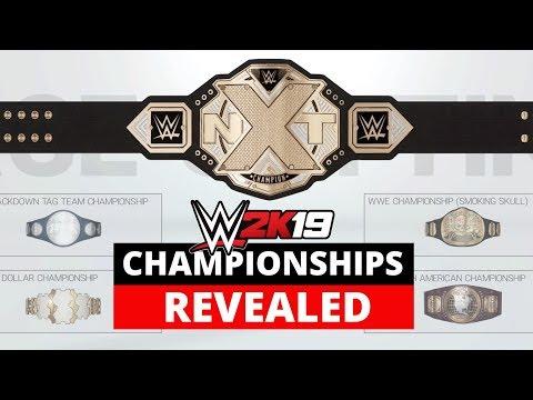 WWE 2K19 All Championships Revealed! (Full List)