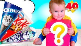 Video e giochi per bambini. I Bambini giocano con i giocattoli di gelato - Five Kids
